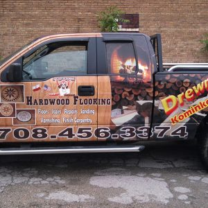 Hardwood Flooring Car Wrap