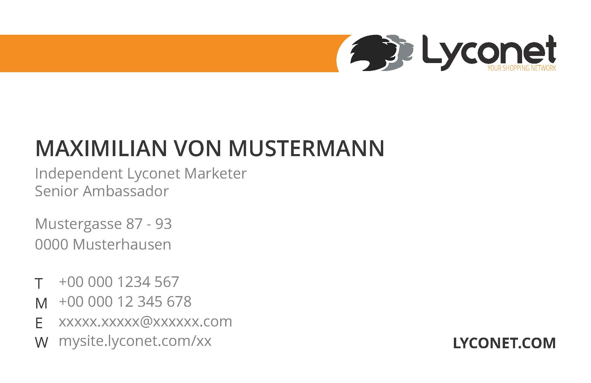 Business Cards Lyconet